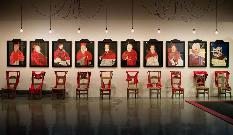 "Irène Gérard & Collectief La ""S"" Grand Atelier, Avé Luïa – installatie bij abdc art brut (2015) Beeld La ""S"" Grand Atelier"