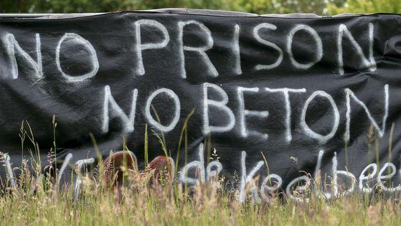 Er is veel verzet tegen de komst van de supergevangenis in Haren (Keelbeek).