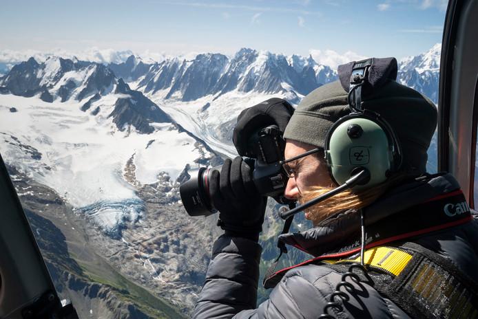 Mer de Glace, de grootste gletsjer van Frankrijk.