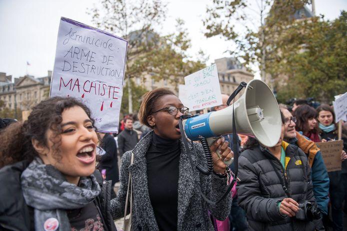 In Parijs gingen deze week vrouwen de straat op om te protesteren tegen seksueel geweld door mannen tegen vrouwen.