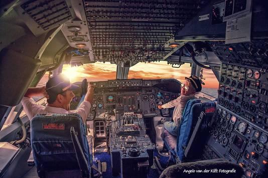 Benjamin als piloot.