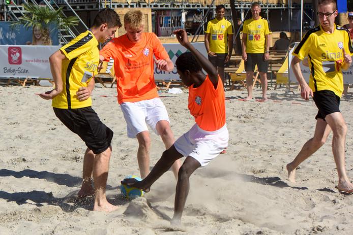 Het Beach Event in 2019: beach soccer voor mensen met een handicap.