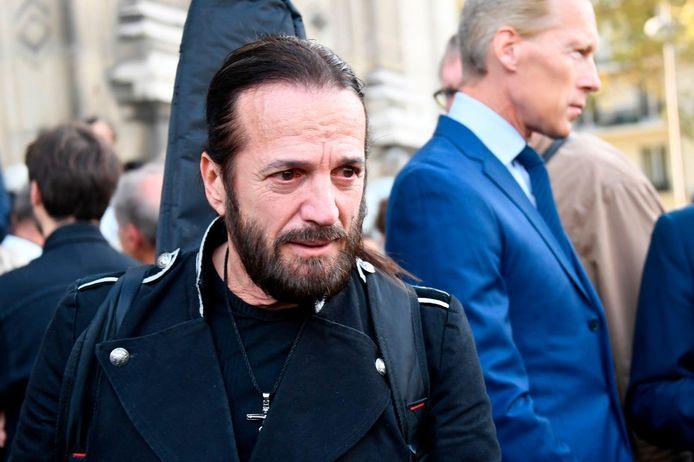 Francis Lalanne aux funérailles du comédien Jean Piat à Paris, en septembre 2018.