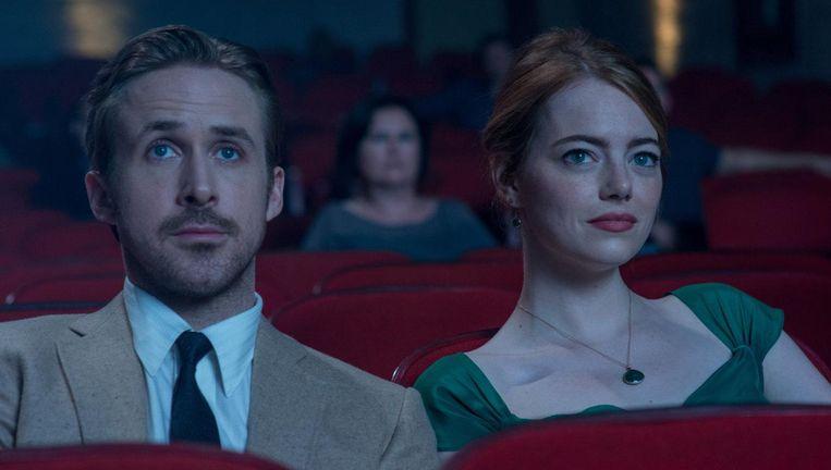 Ryan Gosling als Seb en Emma Stone als Mia. Beeld FIlmstill