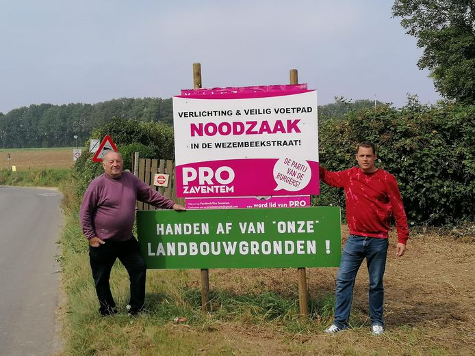 Gemeenteraadslid Etienne Vanhamme en Reinout Eggink, ondervoorzitter van het bestuur.