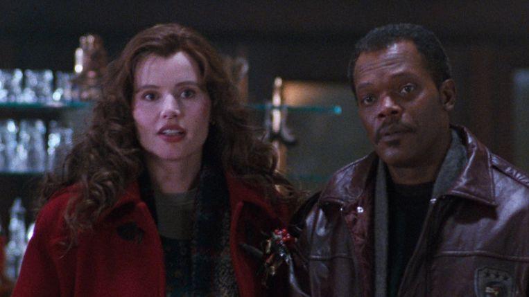 Geena Davis en Samuel L. Jackson in The Long Kiss Goodnight van Renny Harlin. Beeld