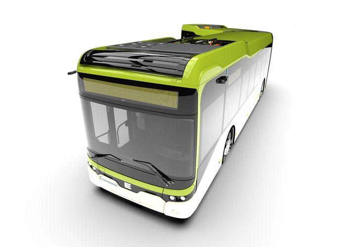 Ebusco-bus voor Connexxion, met camera's in plaats van buitenspiegels.