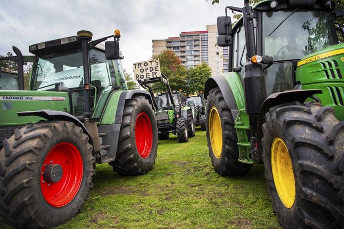 Boeren tijdens een van de protesten.