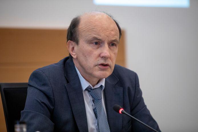 Voorzitter Paul Pardon van de RMG  maandag in de bijzondere coronacommissie van de Kamer.
