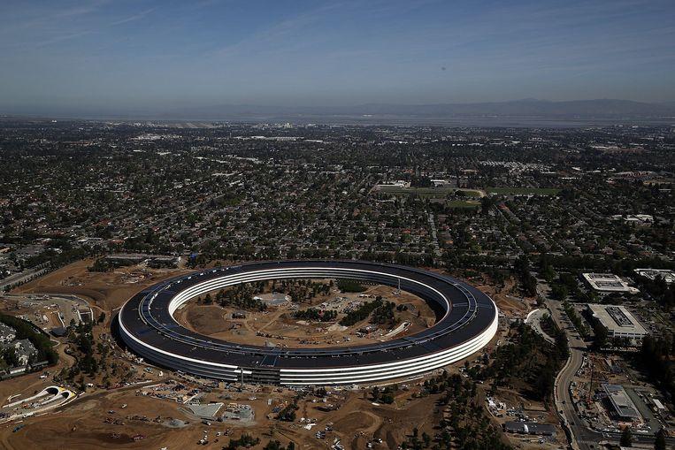 Het hoofdkantoor van Apple in Cupertino.  Beeld AFP