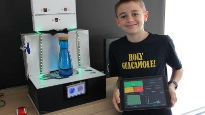 VIDEO. Mauro (11) ontwerpt robot die  uitrekent of je genoeg water hebt gedronken
