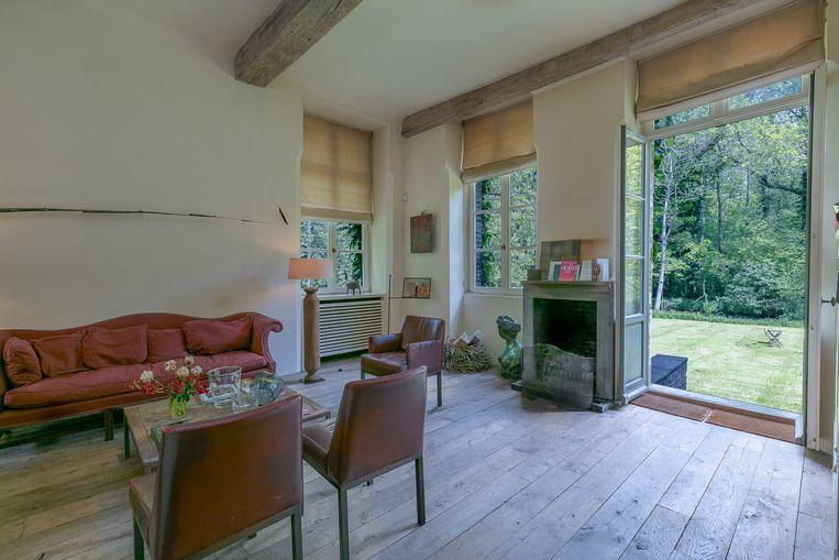Het salon in Kasteel Nieuwenhove