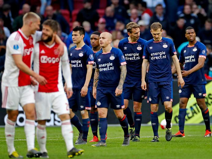 In de titelstrijd tussen Ajax en PSV lijkt het doelsaldo een belangrijke rol te gaan spelen.