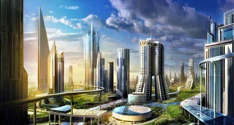 Een impressie van Neom, een stad die geheel uitstootvrij moet worden. Beeld Neom