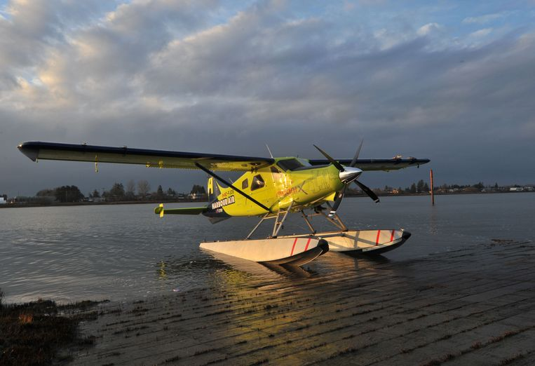 Het omgebouwde, nu elektrische watervliegtuigje.