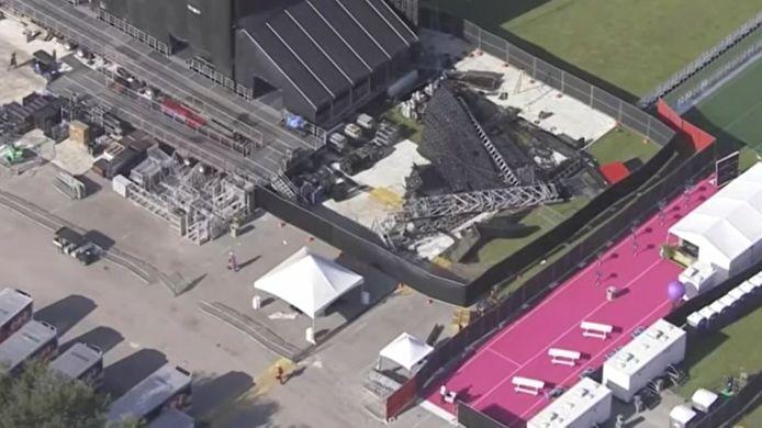 Un écran géant s'est effondré la veille du lancement du festival de hip-hop Rolling Loud, en Floride.