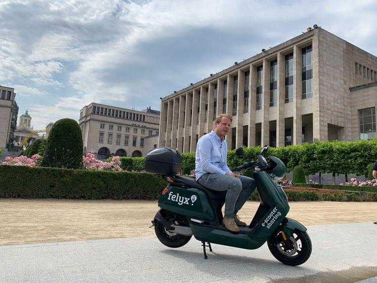 Felyx startte in juni met 200 e-scooters in Brussel