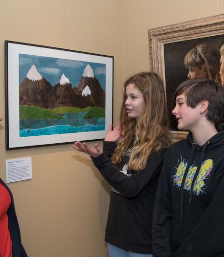 Jongeren tonen in Nunspeet kunstwerk 'echt' in museum
