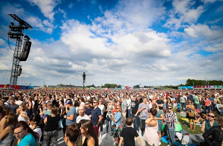 People attend the one-day 'Werchter Boutique' festival in Werchter, on Saturday 16 June 2018. BELGA PHOTO VIRGINIE LEFOUR