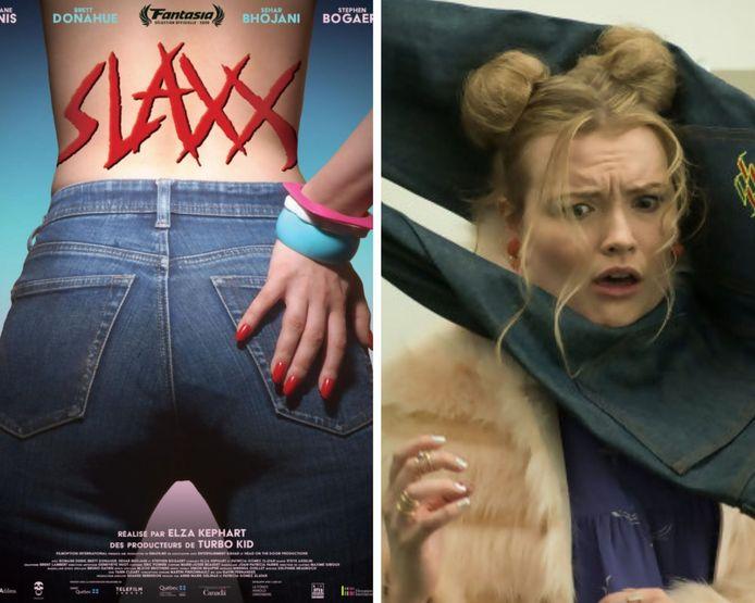 Slaxx relate comment une paire de jeans devient possédée et se venge d'une compagnie de textiles peu scrupuleuse.