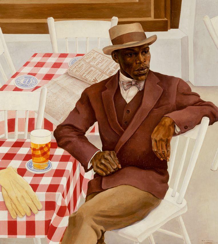 Nola Hatterman, Louis Richard Drenthe / Op het terras, 1930, olieverf op doek. Beeld Collectie Stedelijk Museum Amsterdam