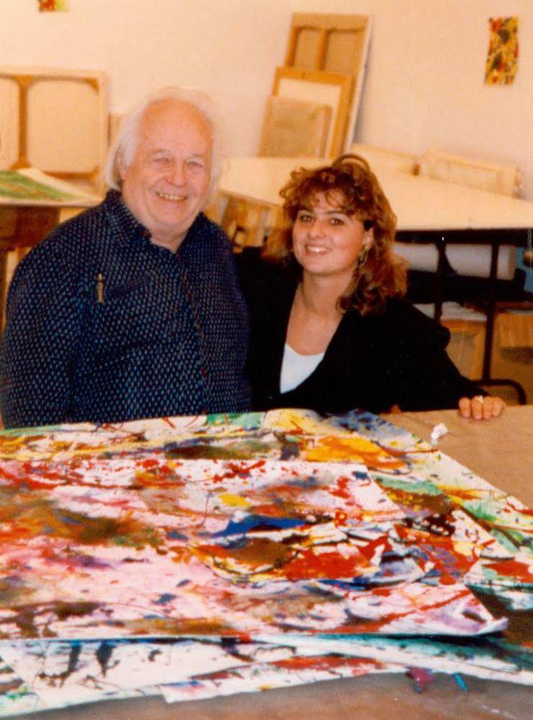 Sam Francis en Justine Janknegt, 1990. Beeld