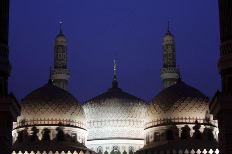 De Al-Saleh moskee in de hoofdstad Sanaa. Beeld REUTERS