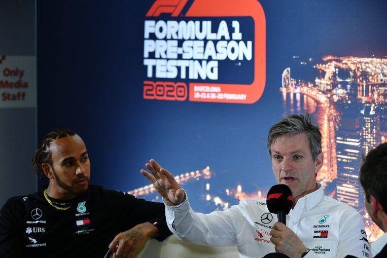 Lewis Hamilton en James Allison.