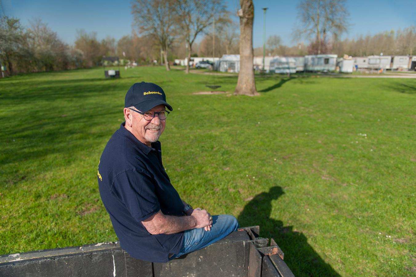 Jef Teulings, nieuwe beheerder van camping De Mosterdpot in Woudrichem.