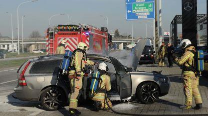 Auto uitgebrand op oprit van autogarage