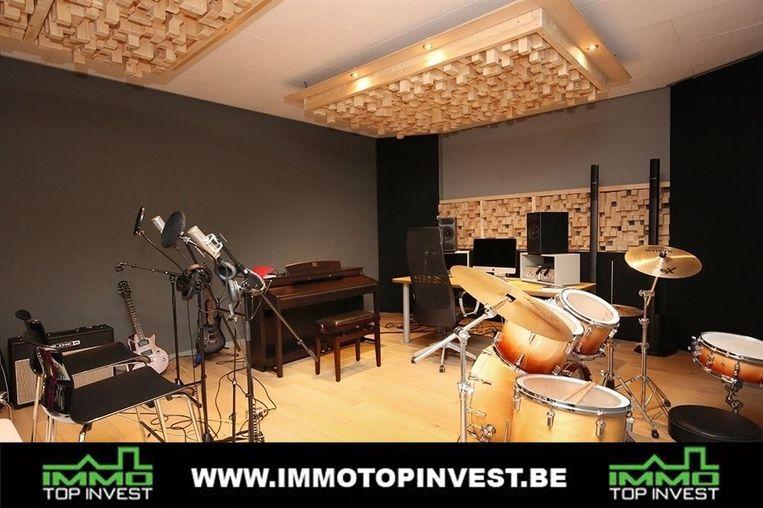 De muziekstudio.