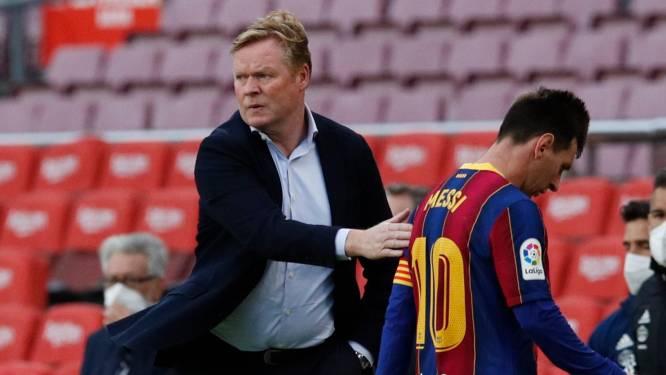 """Koeman hoopt dat overige Barça-spelers """"inspanning leveren"""" zodat club Messi (34) kan betalen: """"Hij is de toekomst van de club"""""""