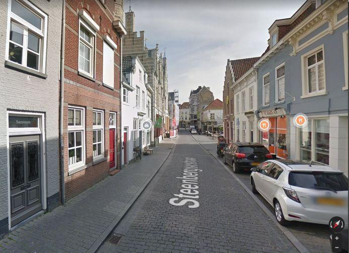 Steenbergsestraat is een van de aanloopstraten naar het centrum van Bergen op Zoom