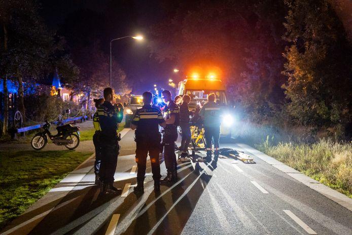 Het ongeluk gebeurde op de Albertlaan in Sterksel.