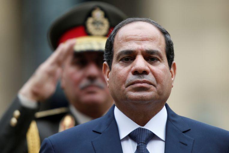 De Egyptische president Abdel Fattah al-Sisi. Beeld REUTERS