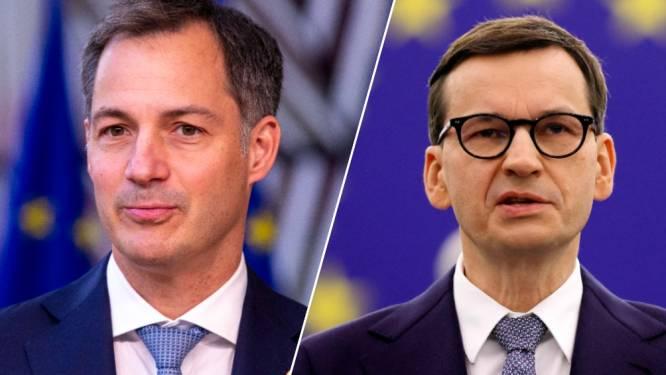 """De Croo waarschuwt Poolse premier voor """"gevaarlijk spelletje"""", Europees Hof legt Polen dwangsom van 1 miljoen euro per dag op"""