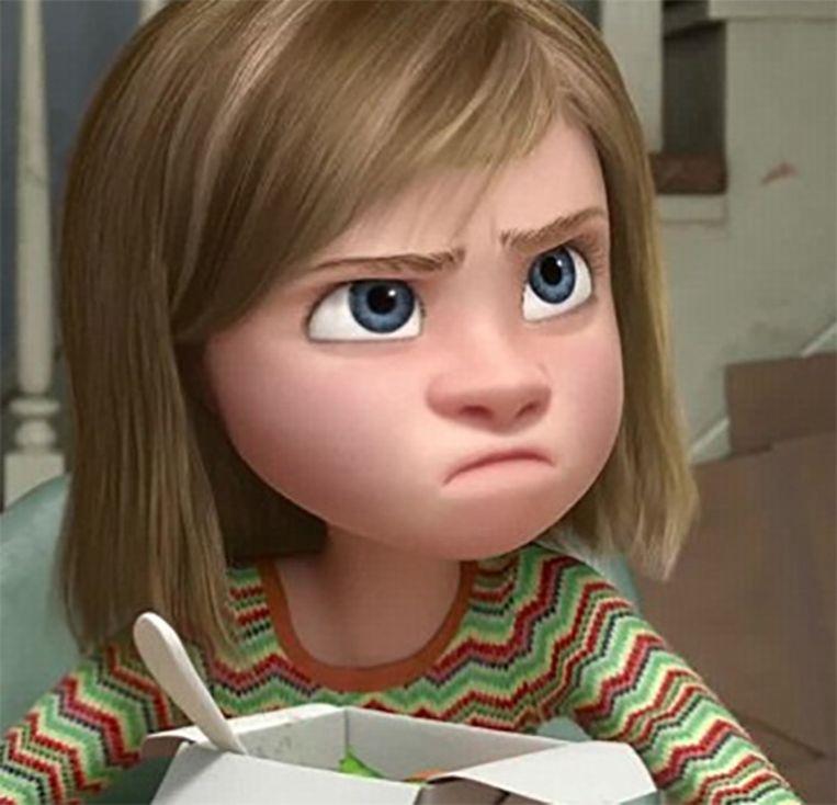 Wat gaat er in het hoofd van de 11-jarige Riley om? Pixar beantwoordt die vraag op meesterlijke wijze. Beeld Pixar
