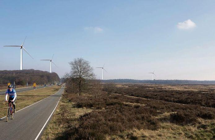 Windmolens op de Veluwe.