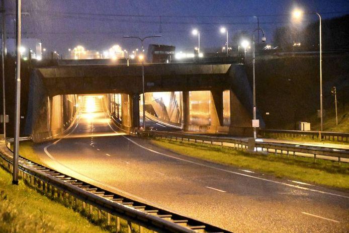 Dampoort-aquaduct afgesloten in Middelburg.