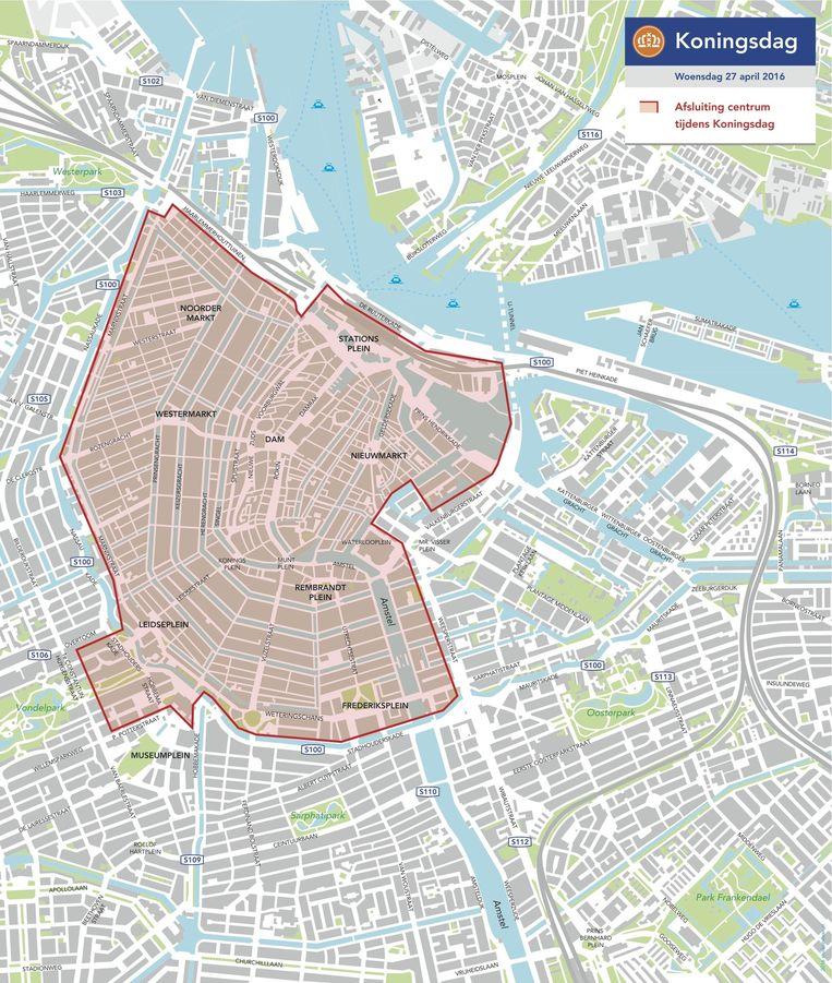 Een groot deel van de binnenstad is afgesloten voor gemotoriseerd verkeer Beeld Gemeente Amsterdam