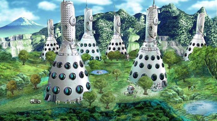 Vanwege een kernramp zijn de woningen bestand tegen radioactieve straling.