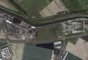 In het midden de beoogde nieuwe locatie voor het Finlandcircuit tussen sloop- en recyclingbedrijf Beelen en Fassaert Beton.