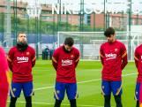 La minute de silence du Barça et de Lionel Messi pour Diego Maradona
