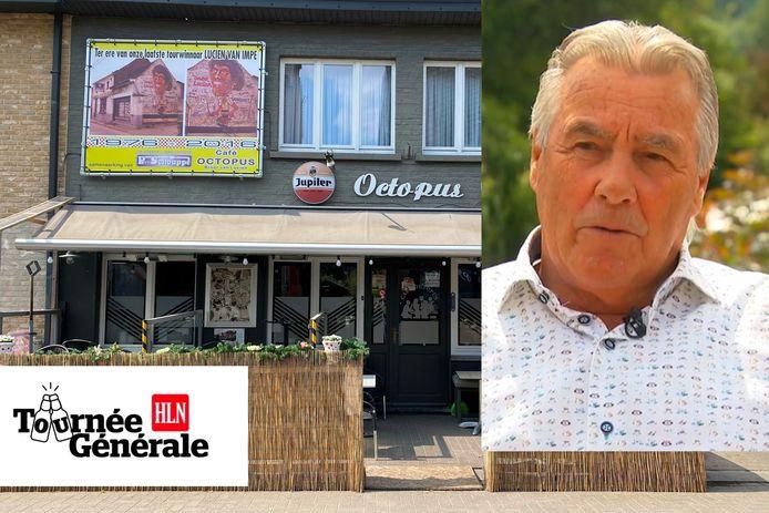 Het eerste terrasje dat Lucien Van Impe zal doen, is dat van zijn broer Raymond aan café Octopus in Mere.