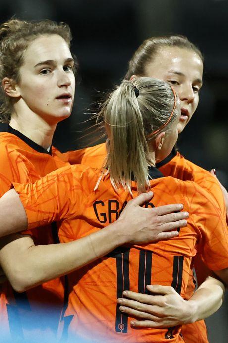 Oranjevrouwen winnen nu wel van een ander topland: 'Dit soort wedstrijden wil je spelen'