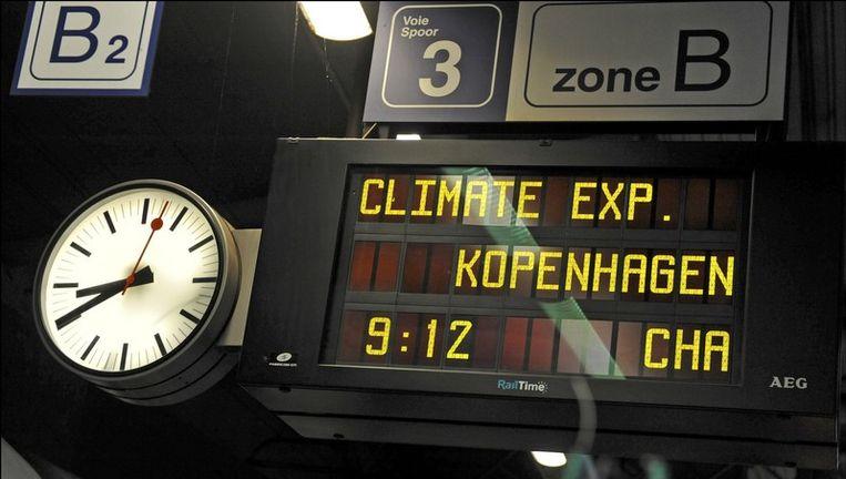 Vanmorgen vertrok de Climate Express vanuit Brussel. Beeld UNKNOWN