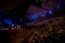 Zo'n 275 bezoekers bij testvoorstelling van Herman van Veen in Muziekgebouw