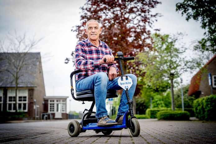 Piet van Maurik deed een bijzondere oproep voor opvouwbaare scootmobiel.