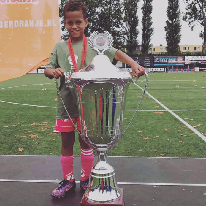Ilai Grootfaam (7) uit Vlissingen is geselecteerd voor Jonger Oranje.
