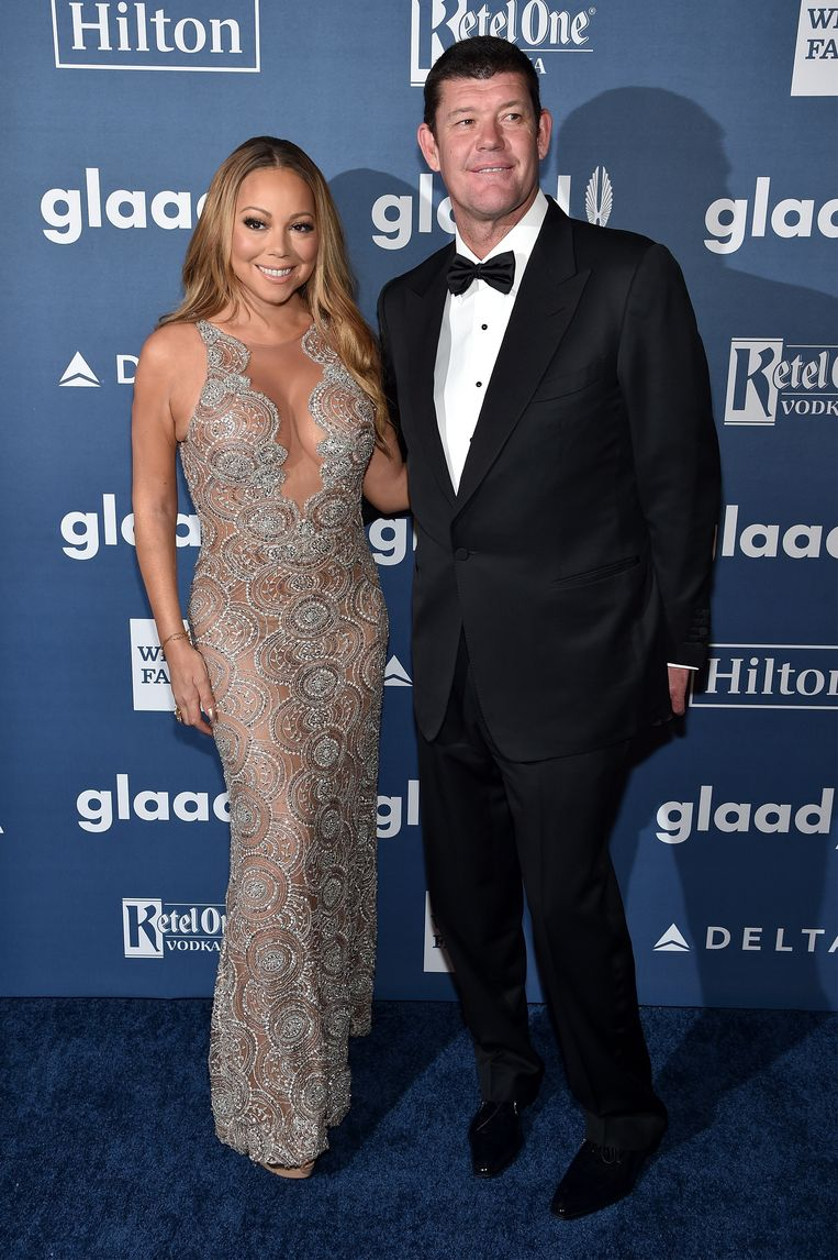Mariah Carey en James Packer tijdens de GLAAD Media Awards in New York op 14 mei 2016.